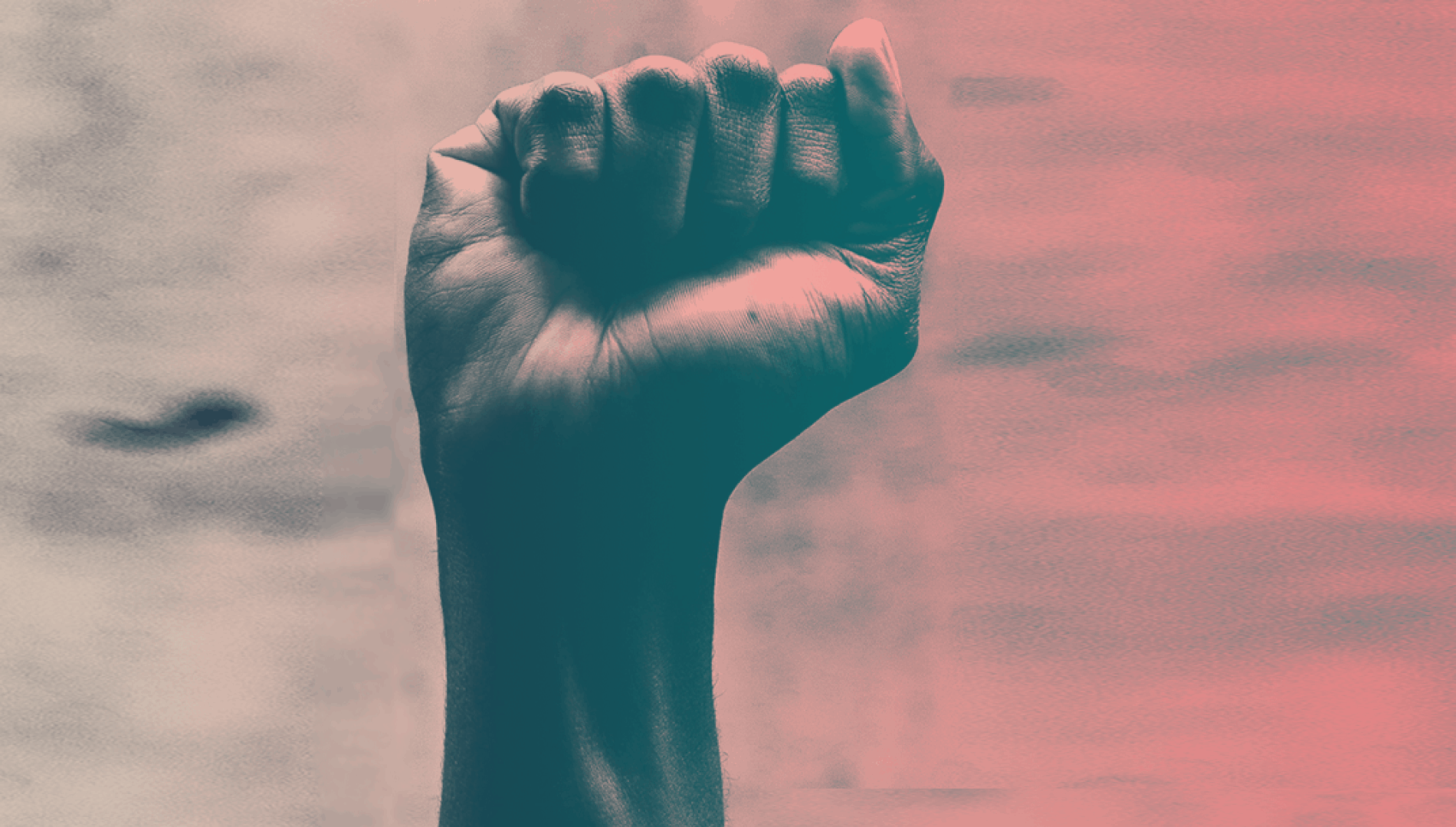 Raised clenched fist - symbolic of movements